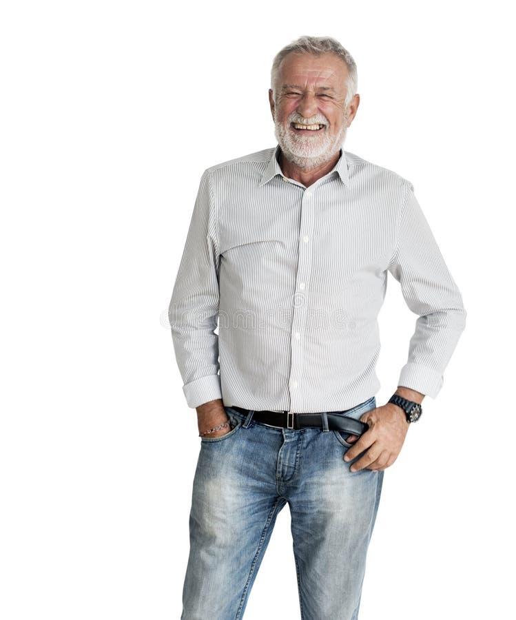 Mężczyzna Uśmiechniętego szczęścia Beztroski Emocjonalny Wyrażeniowy pojęcie zdjęcia stock