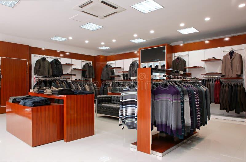 mężczyzna ubraniowy sklep s obrazy stock
