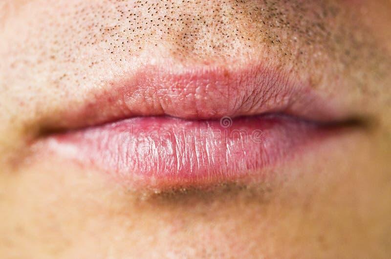 mężczyzna usta s fotografia royalty free