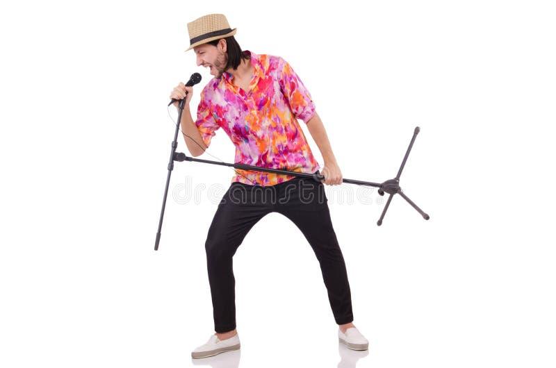 Download Mężczyzna W Colourful Koszula Odizolowywającej Na Bielu Zdjęcie Stock - Obraz złożonej z dyskoteka, osoba: 57652896