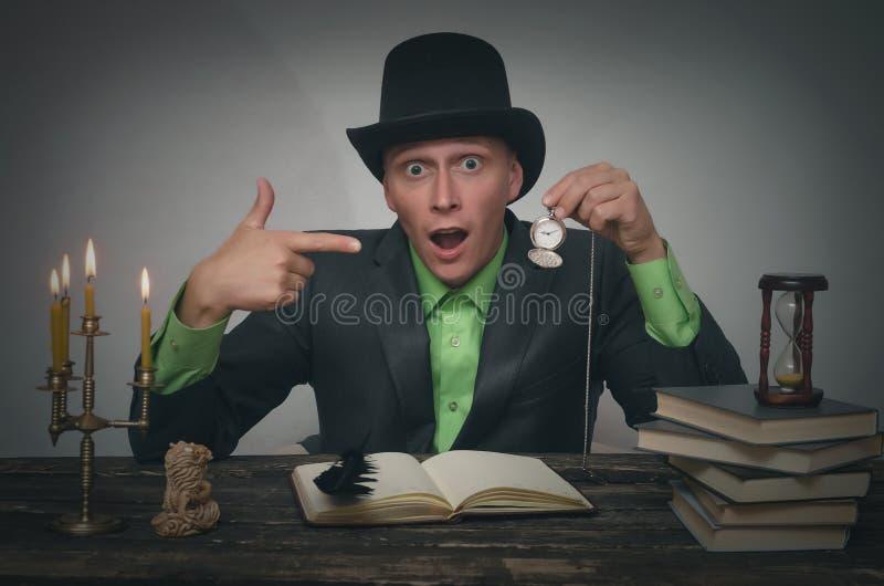 Mężczyzna w dęciaka kapeluszu zdjęcie royalty free