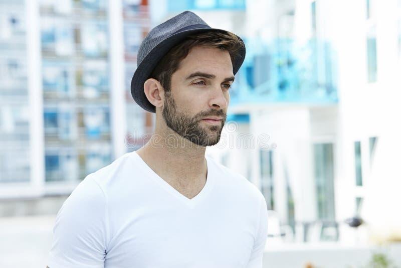 Mężczyzna w kapeluszu obrazy stock