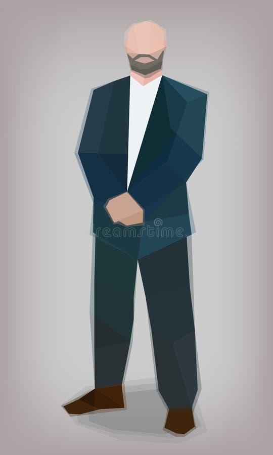 Mężczyzna w kostiumu, ochroniarz, wektor ilustracja wektor