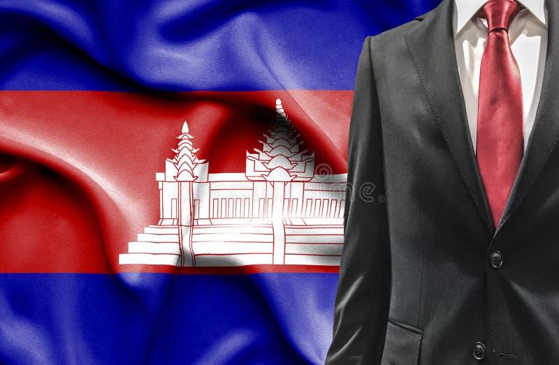 Mężczyzna w kostiumu od Kambodża zdjęcie stock