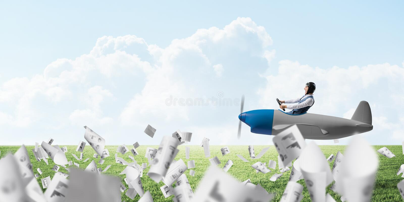 Mężczyzna w lotników gogle i kapeluszu ilustracji
