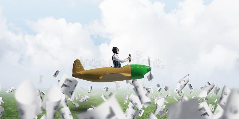 Mężczyzna w lotników gogle i kapeluszu obrazy stock