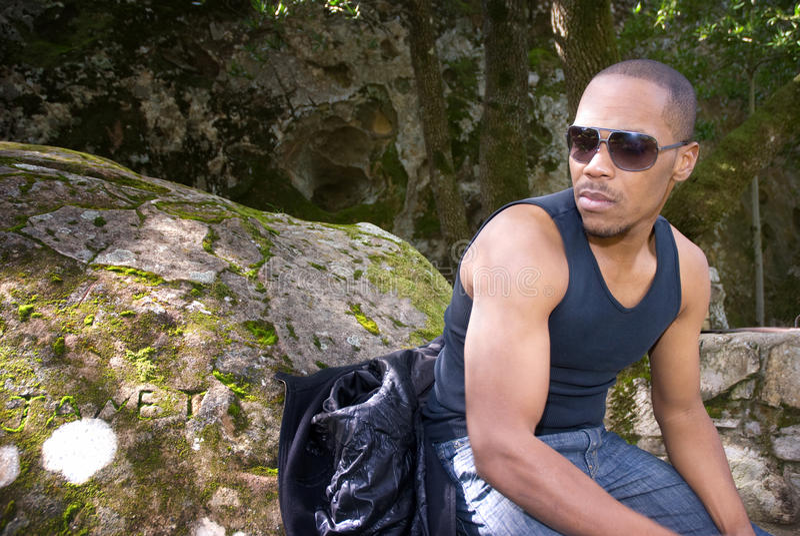Mężczyzna w naturze fotografia royalty free