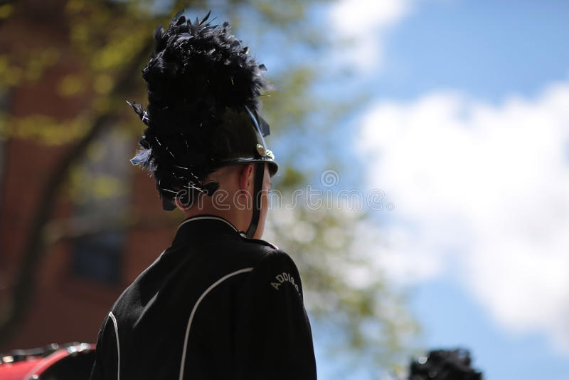Mężczyzna w orkiestrze marsszowa zdjęcia royalty free