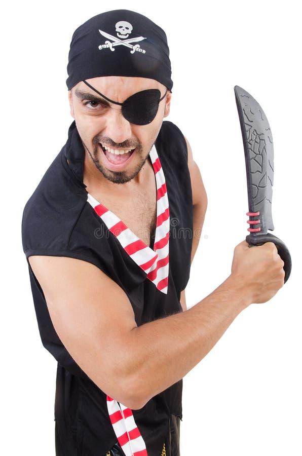 Mężczyzna w pirata kostiumu zdjęcia royalty free