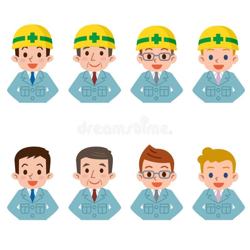 Mężczyzna w prac ubraniach royalty ilustracja