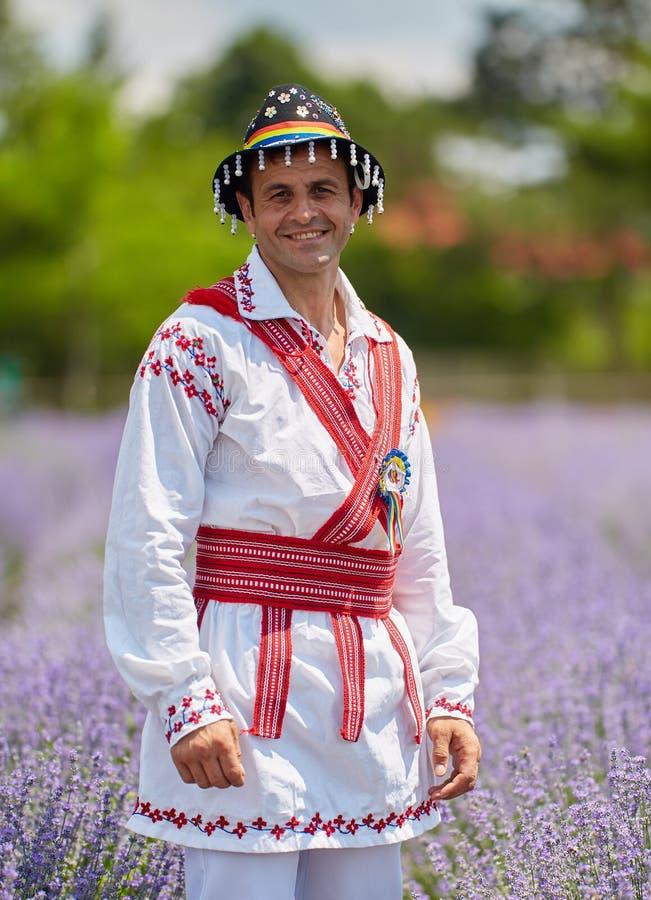 Mężczyzna w Rumuńskim kostiumu obrazy stock