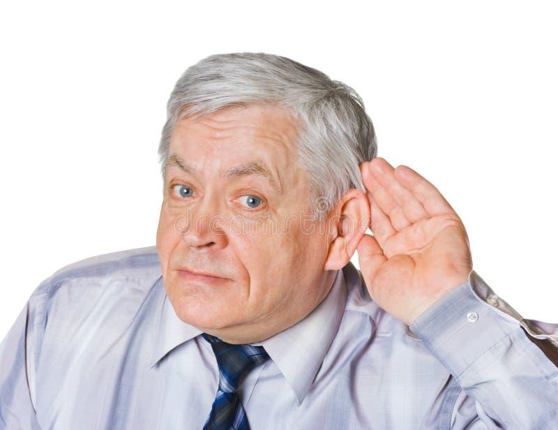 Mężczyzna w słuchanie pozie obraz royalty free