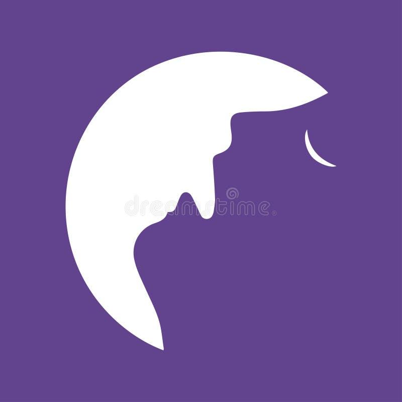 Mężczyzna wycia księżyc royalty ilustracja