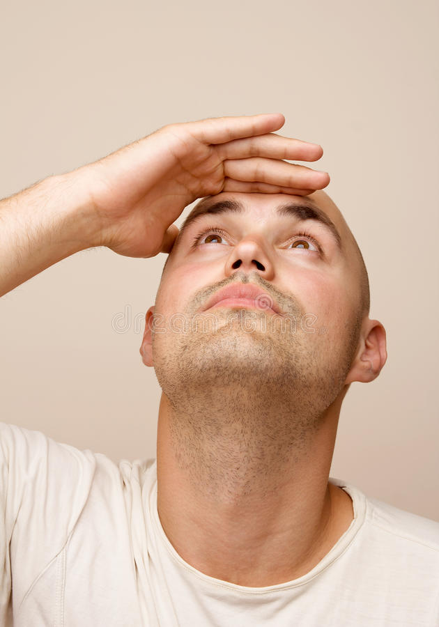 Mężczyzna wyrazów twarzy serie zdjęcie royalty free