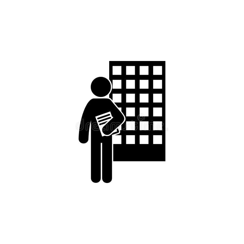 mężczyzna z architekta stopnia ikoną Element mężczyzna z studencką stopień ikoną dla mobilnych pojęcia i sieci apps Glifu archite ilustracji