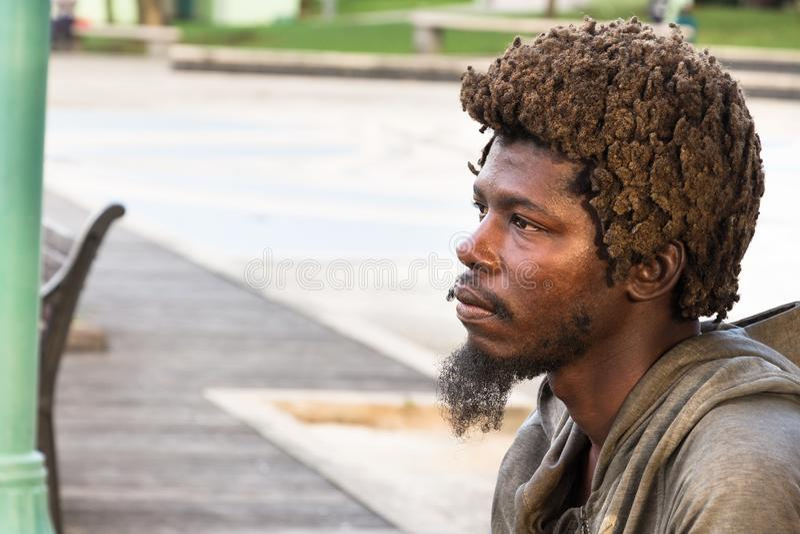 Mężczyzna z dreadlocks od Barbados obrazy royalty free