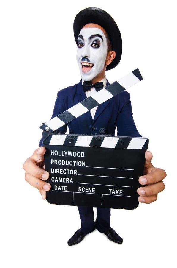 Mężczyzna z filmu clapper obrazy stock