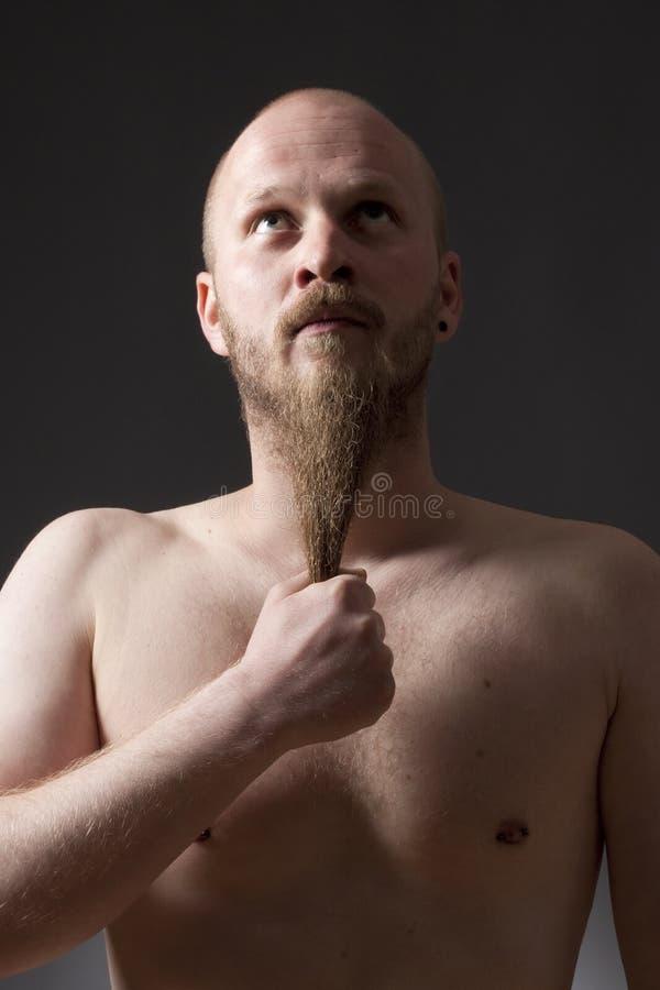 Mężczyzna z Goatee brodą obraz stock