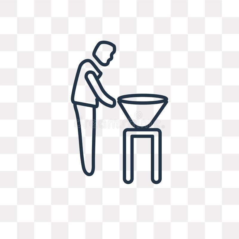 Mężczyzna z grill wektorową ikoną odizolowywającą na przejrzystym tle ilustracji