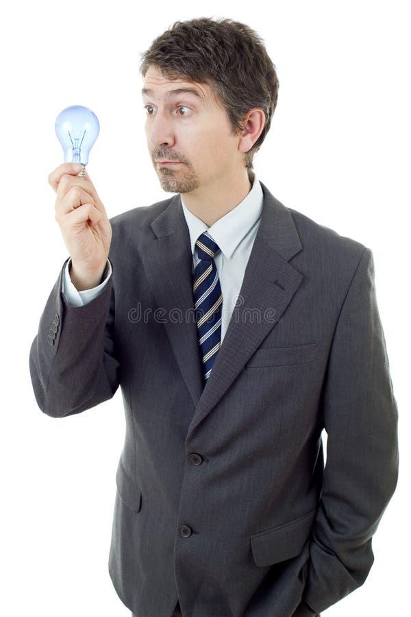 Mężczyzna z lampą zdjęcie royalty free