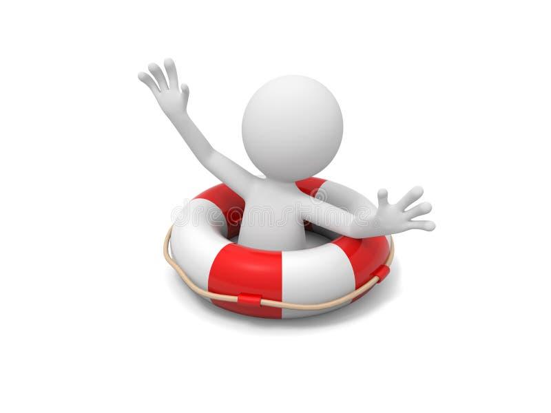 Mężczyzna z Lifebuoy ilustracji