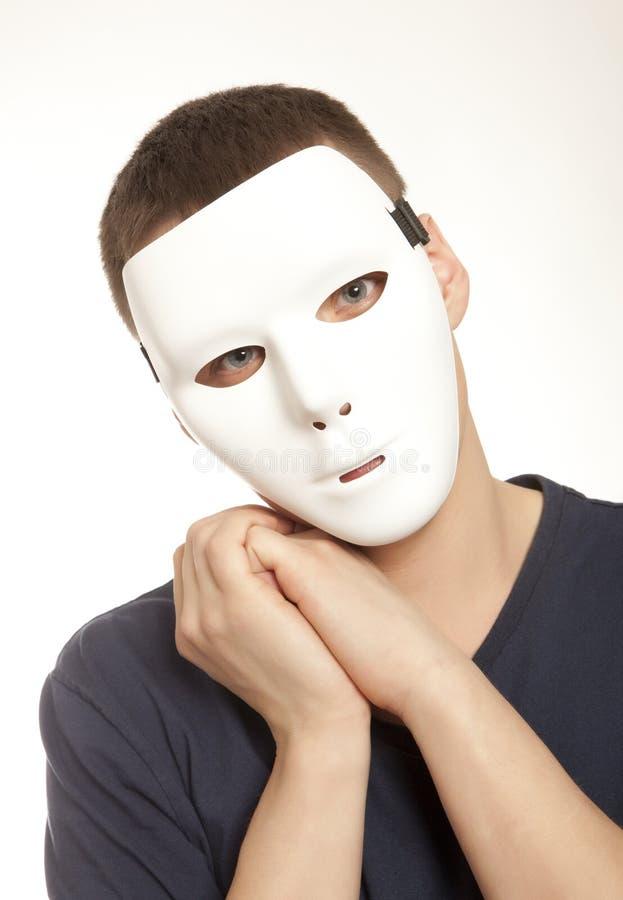 Mężczyzna z maską obraz stock