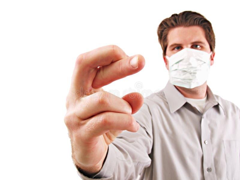 Mężczyzna z Medyczną maską obrazy stock