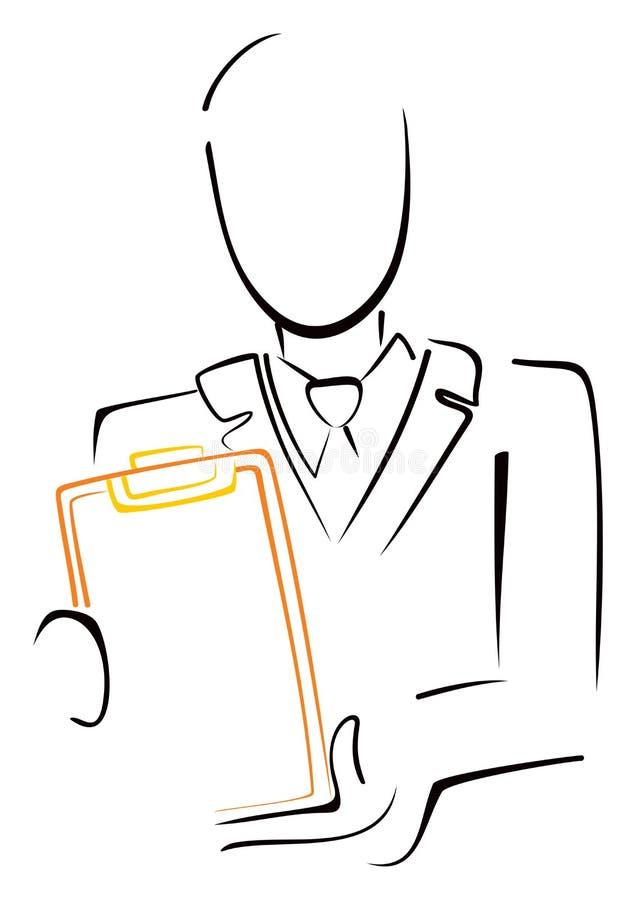 Mężczyzna z menu ilustracja wektor