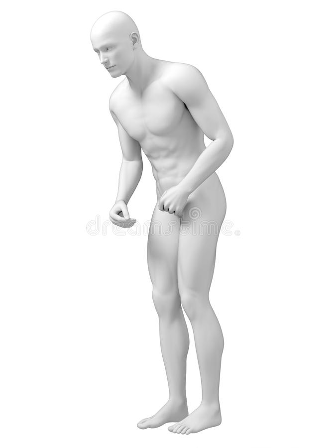 Mężczyzna z Parkinson ilustracji