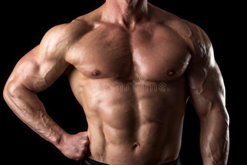 Mężczyzna z perfect ciałem fotografia royalty free