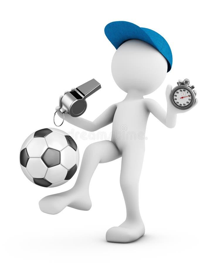 Mężczyzna z piłki nożnej piłką ilustracja wektor