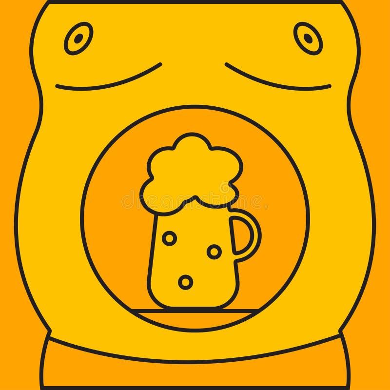 Mężczyzna z piwem ilustracja wektor