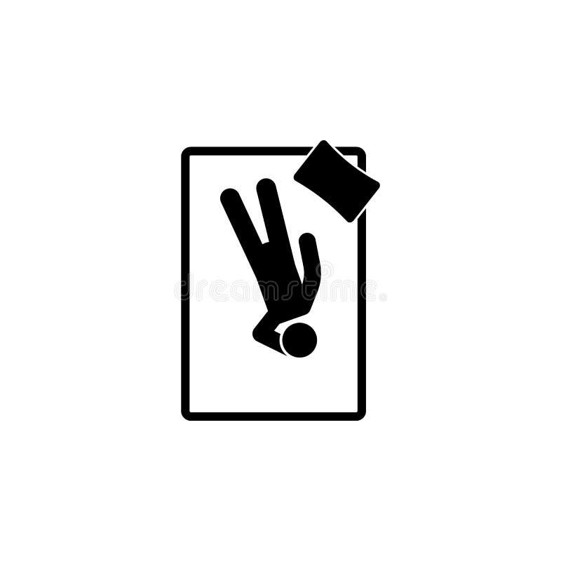 mężczyzna z powrotem sen z ręką nad ikoną Element dosypianie pozyci ilustracja Premii ilości graficznego projekta ikona Znaki i s royalty ilustracja