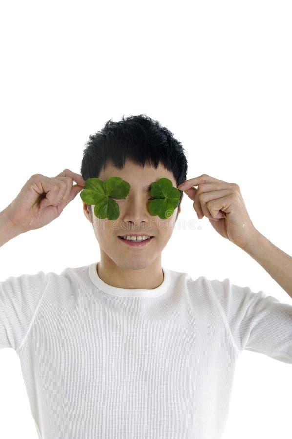 Mężczyzna z rośliną zdjęcia royalty free