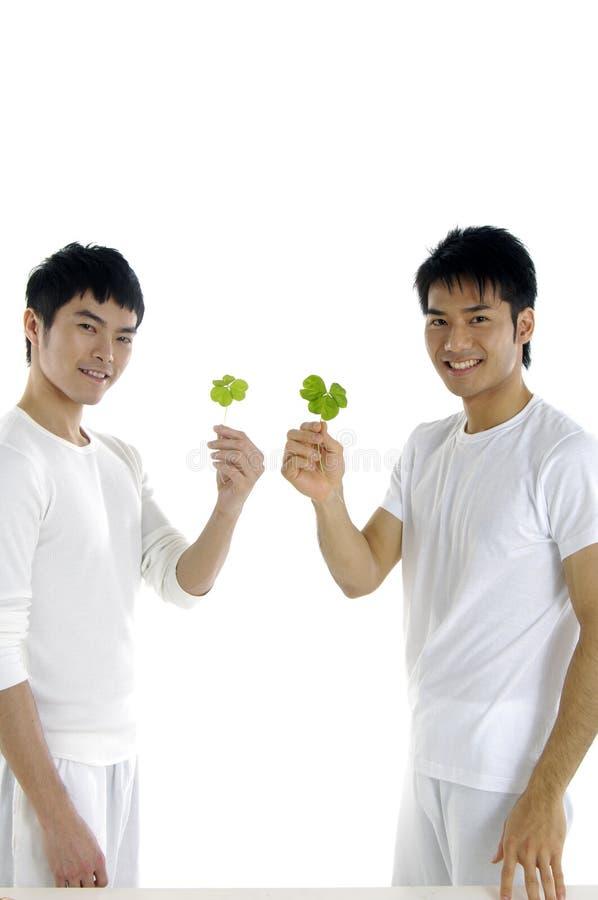 Mężczyzna z rośliną fotografia royalty free