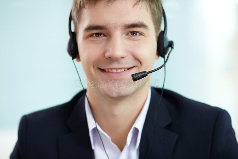 Mężczyzna z słuchawki zdjęcie stock