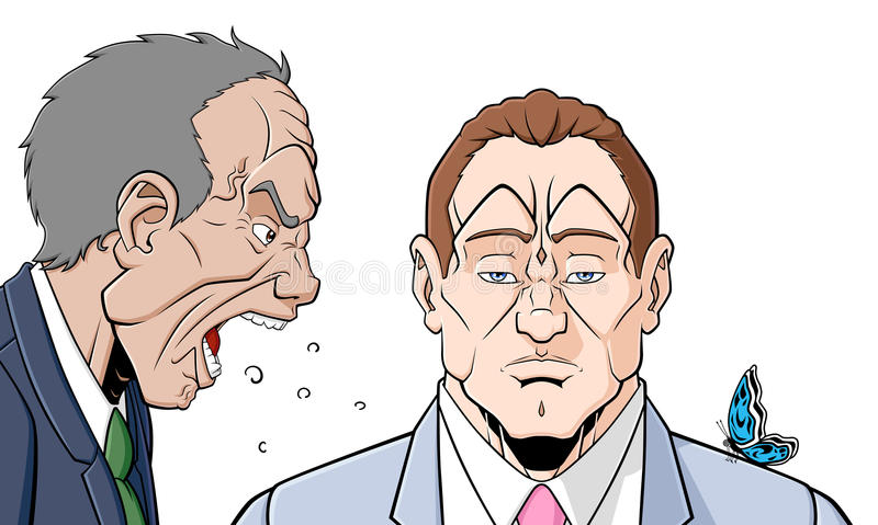 Mężczyzna z samokontrola ilustracja wektor