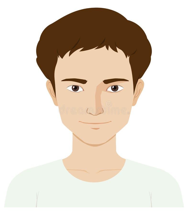 Mężczyzna z szczęśliwą twarzą ilustracji