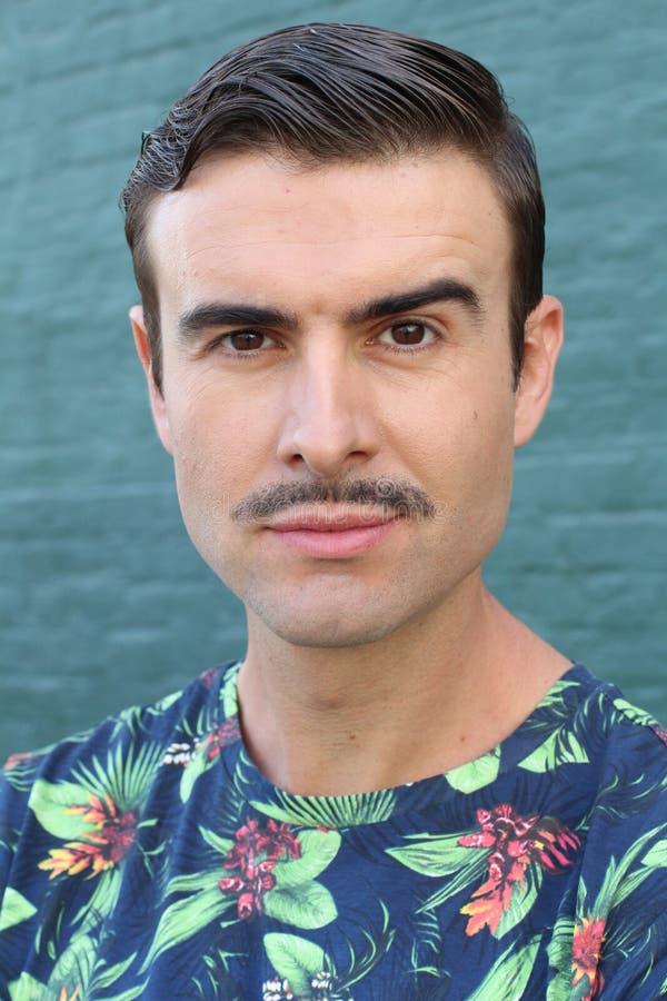 Mężczyzna z wąsy - Akcyjny wizerunek obrazy stock
