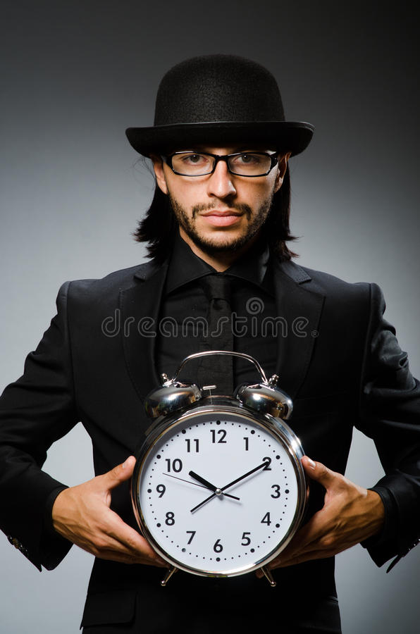 Mężczyzna z zegarowy być ubranym zdjęcia royalty free