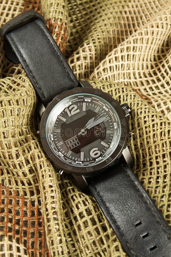 Mężczyzna zegarka chronograf zdjęcie royalty free