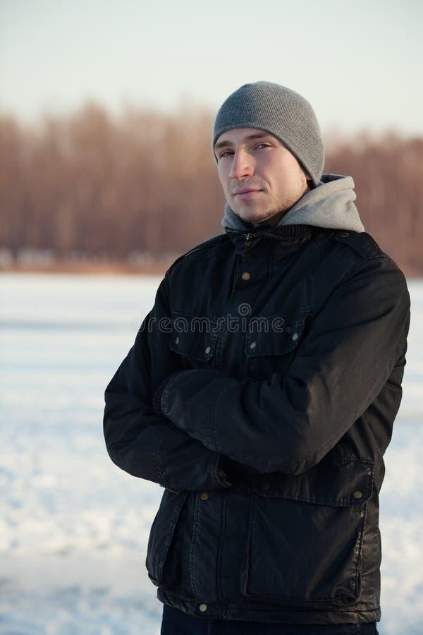mężczyzna zima obraz stock