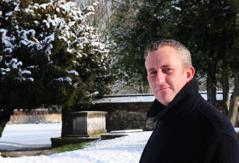 mężczyzna zima zdjęcia stock