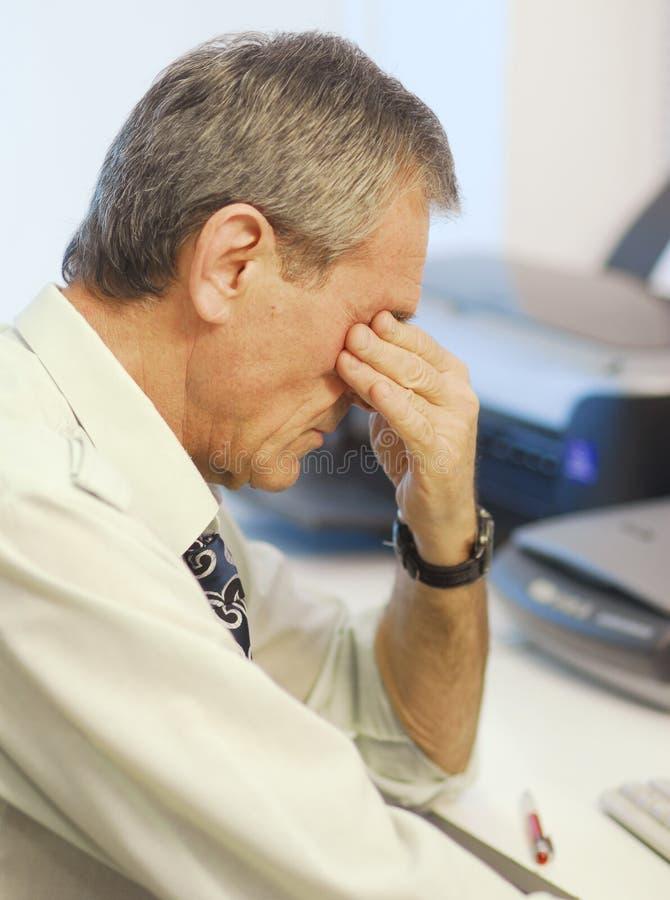 mężczyzna zmęczony zdjęcie stock