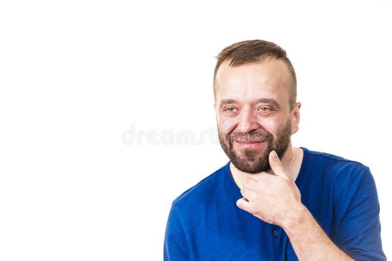 Mężczyzna zmieszany Główkowanie obrazy stock