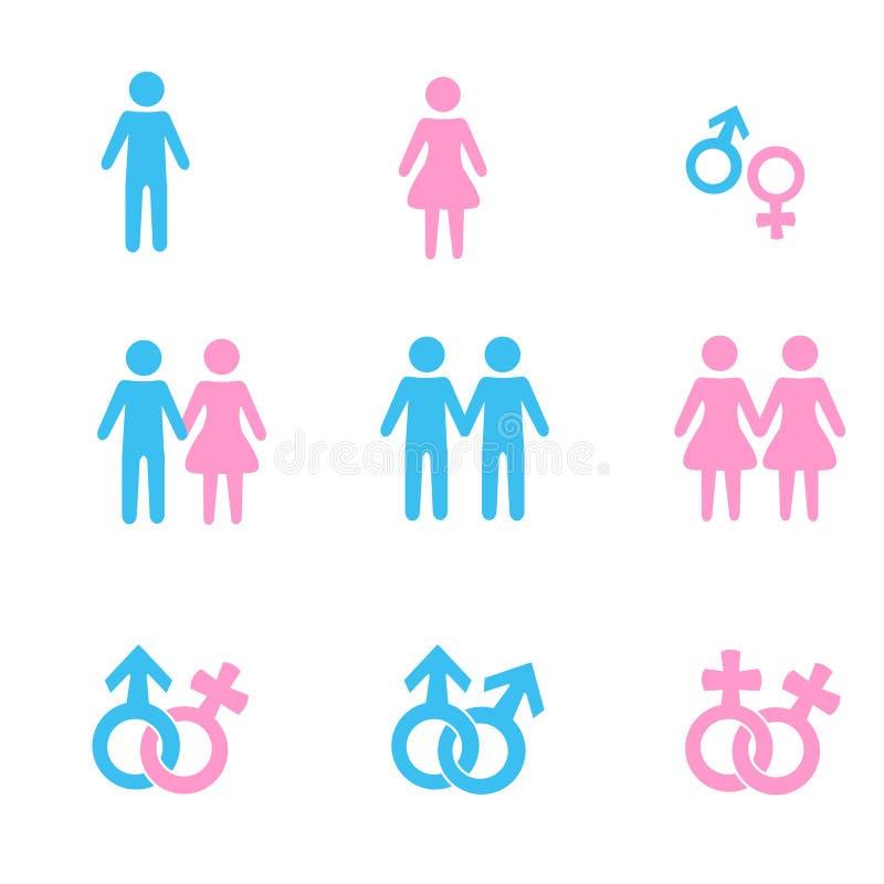 mężczyzna związek symboli/lów kobiety royalty ilustracja