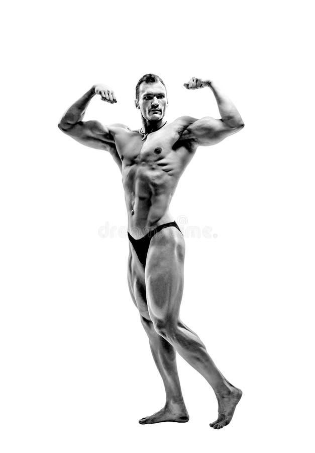 Mężczyzny bodybuilder poza fotografia royalty free