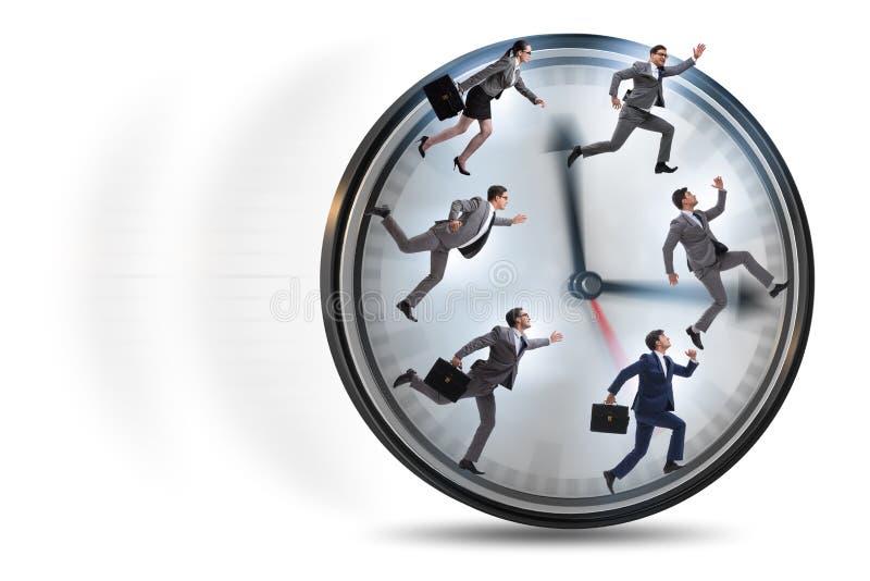 Mężczyzny i kobiety bieg na zegarze obrazy stock