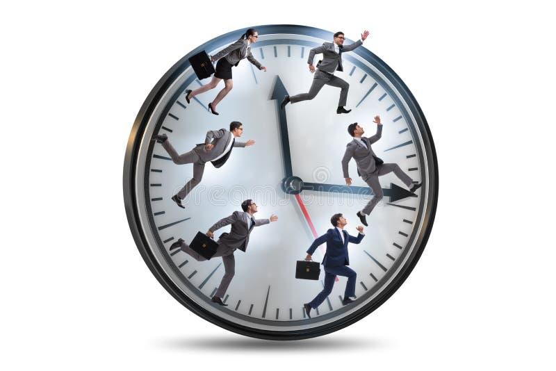 Mężczyzny i kobiety bieg na zegarze fotografia royalty free