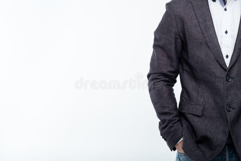 Mężczyzny kostiumu kurtki władzy sukcesu biznesu trener obraz royalty free